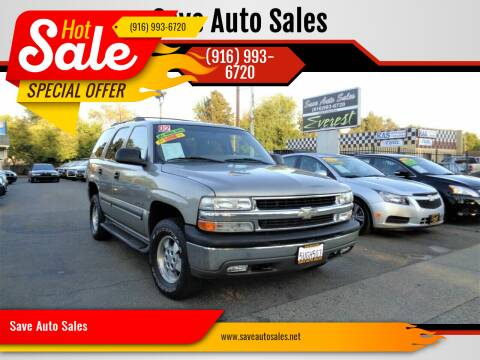 2002 Chevrolet Tahoe for sale at Save Auto Sales in Sacramento CA