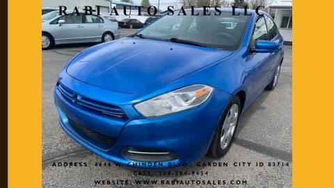 2015 Dodge Dart for sale at RABI AUTO SALES LLC in Garden City ID