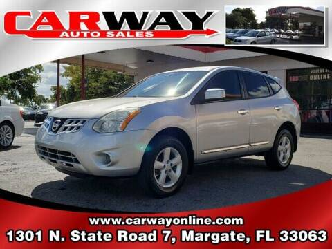 2013 Nissan Rogue for sale at CARWAY Auto Sales in Margate FL