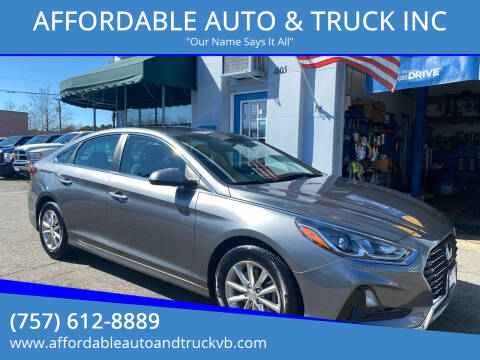 2018 Hyundai Sonata for sale at AFFORDABLE AUTO & TRUCK INC in Virginia Beach VA