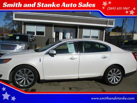 2016 Lincoln MKS for sale at Smith and Stanke Auto Sales in Sturgis MI