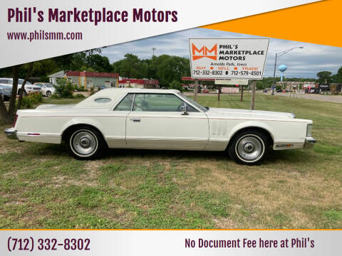 1978 Lincoln Mark V for sale at Phil's Marketplace Motors in Arnolds Park IA