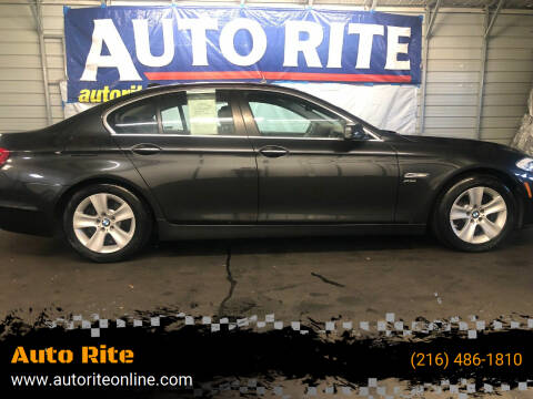 2012 BMW 5 Series for sale at Auto Rite in Bedford Heights OH