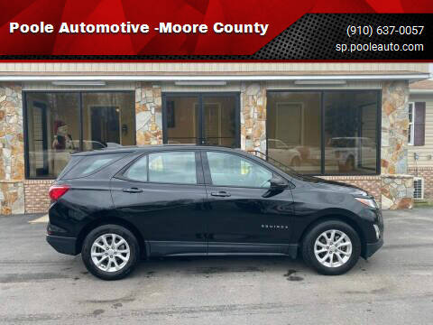 2018 Chevrolet Equinox for sale at Poole Automotive in Laurinburg NC