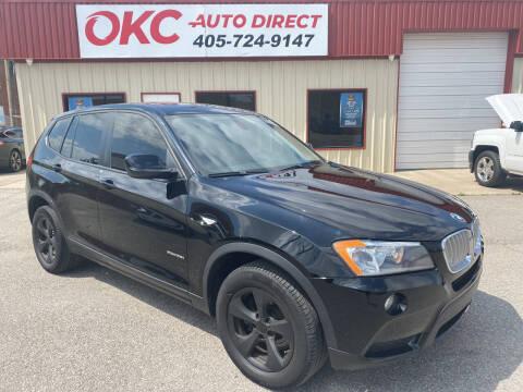 2012 BMW X3 for sale at OKC Auto Direct in Oklahoma City OK