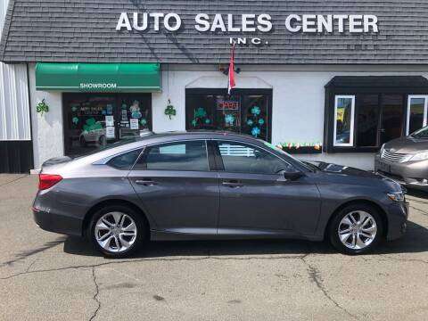 2018 Honda Accord for sale at Auto Sales Center Inc in Holyoke MA