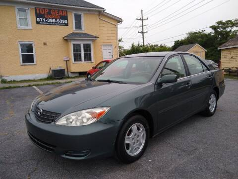 2003 Toyota Camry for sale at Top Gear Motors in Winchester VA