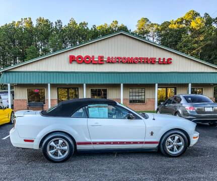 2008 Ford Mustang for sale at Poole Automotive in Laurinburg NC