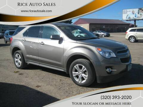 2012 Chevrolet Equinox for sale at Rice Auto Sales in Rice MN