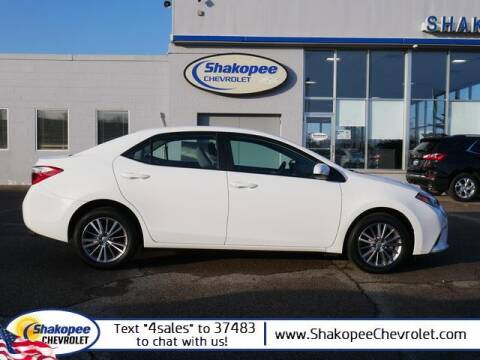 2014 Toyota Corolla for sale at SHAKOPEE CHEVROLET in Shakopee MN