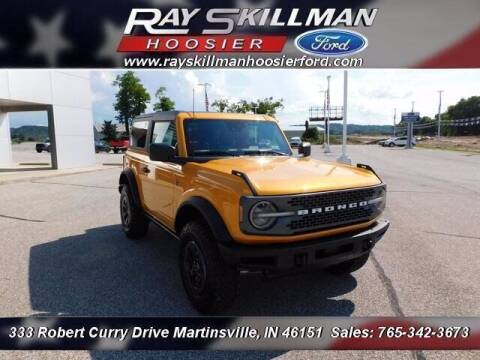 2021 Ford Bronco for sale at Ray Skillman Hoosier Ford in Martinsville IN