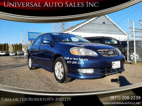 2004 Toyota Corolla for sale at Universal Auto Sales Inc in Salem OR