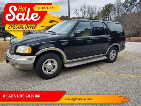 2002 Ford Expedition for sale at WIGGLES AUTO SALES INC in Mableton GA