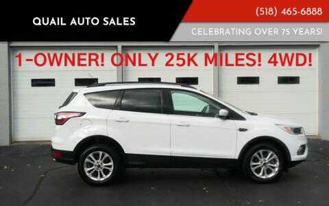 2018 Ford Escape for sale at Quail Auto Sales in Albany NY
