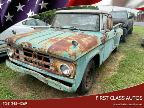 1968 Dodge D250 Pickup for sale at First Class Autos in Maiden NC