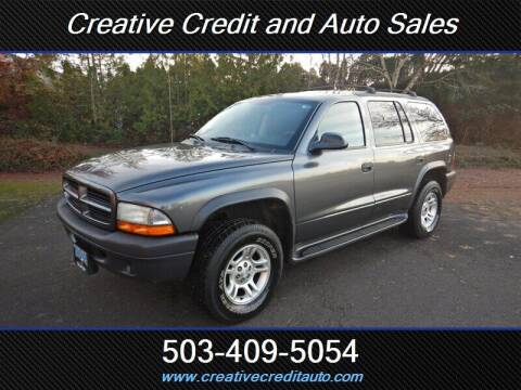 2003 Dodge Durango for sale at Creative Credit & Auto Sales in Salem OR