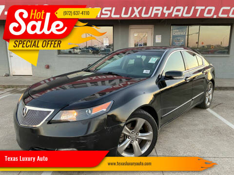 2012 Acura TL for sale at Texas Luxury Auto in Cedar Hill TX