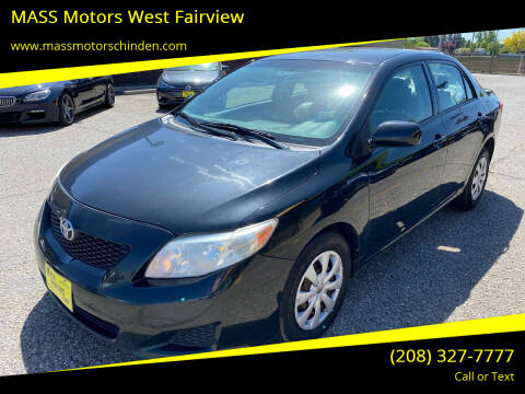 2009 Toyota Corolla for sale at MASS Motors West Fairview in Boise ID