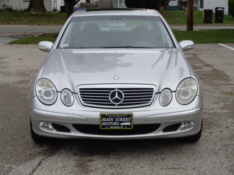 2003 Mercedes-Benz E-Class for sale at MAIN STREET MOTORS in Norristown PA