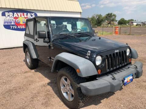 2010 Jeep Wrangler for sale at Praylea's Auto Sales in Peyton CO