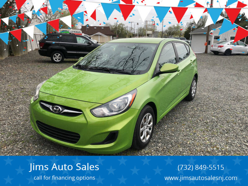 2012 Hyundai Accent for sale at Jims Auto Sales in Lakehurst NJ
