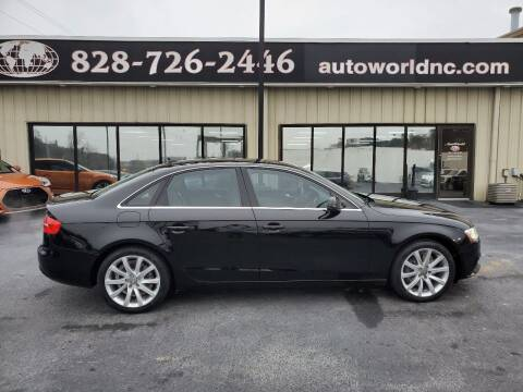 2013 Audi A4 for sale at AutoWorld of Lenoir in Lenoir NC