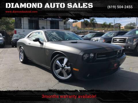 2012 Dodge Challenger for sale at DIAMOND AUTO SALES in El Cajon CA