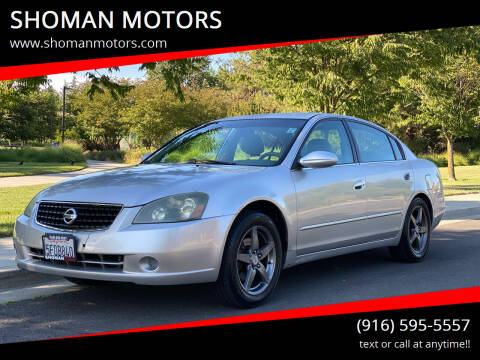 2005 Nissan Altima for sale at SHOMAN MOTORS in Davis CA