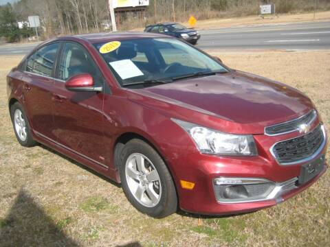 2015 Chevrolet Cruze for sale at Carland Enterprise Inc in Marietta GA