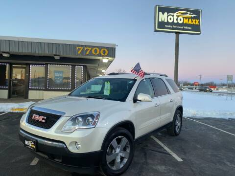 2012 GMC Acadia for sale at MotoMaxx in Spring Lake Park MN