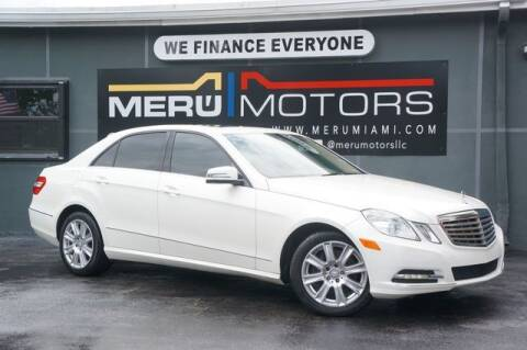 2013 Mercedes-Benz E-Class for sale at Meru Motors in Hollywood FL