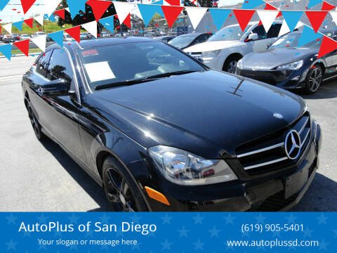 2015 Mercedes-Benz C-Class for sale at AutoPlus of San Diego in Spring Valley CA