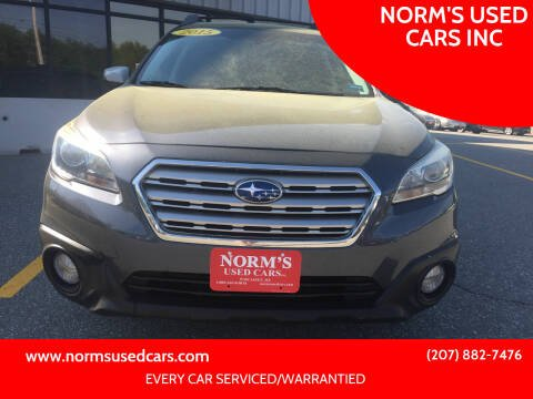 2015 Subaru Outback for sale at NORM'S USED CARS INC in Wiscasset ME