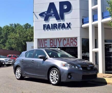 2012 Lexus CT 200h for sale at AP Fairfax in Fairfax VA