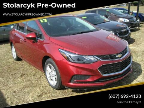 2017 Chevrolet Cruze for sale at Mike and Michelle Stolarcyk Cars and Trucks in Whitney Point NY