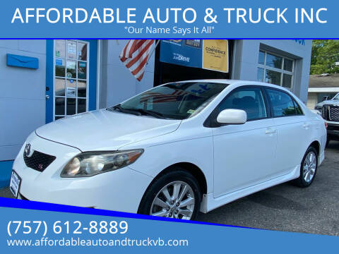 2010 Toyota Corolla for sale at AFFORDABLE AUTO & TRUCK INC in Virginia Beach VA