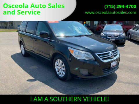 2012 Volkswagen Routan for sale at Osceola Auto Sales and Service in Osceola WI