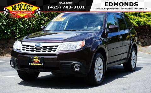 2013 Subaru Forester for sale at West Coast Auto Works in Edmonds WA
