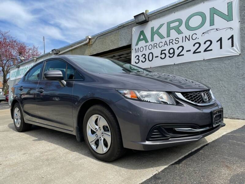 2015 Honda Civic for sale at Akron Motorcars Inc. in Akron OH