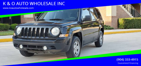 2012 Jeep Patriot for sale at K & O AUTO WHOLESALE INC in Jacksonville FL