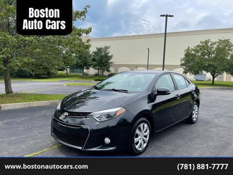 2016 Toyota Corolla for sale at Boston Auto Cars in Dedham MA