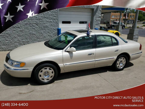 2002 Lincoln Continental for sale at Motor City Direct Auto Sales & Service in Pontiac MI