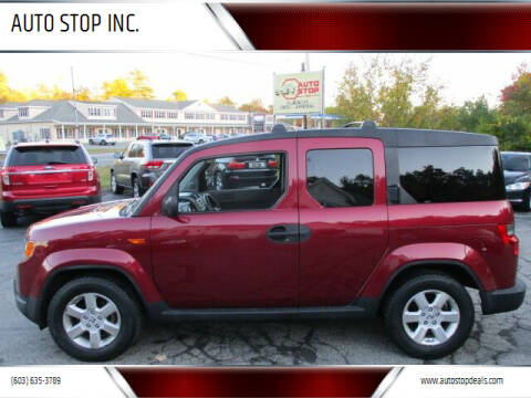 2010 Honda Element for sale at AUTO STOP INC. in Pelham NH
