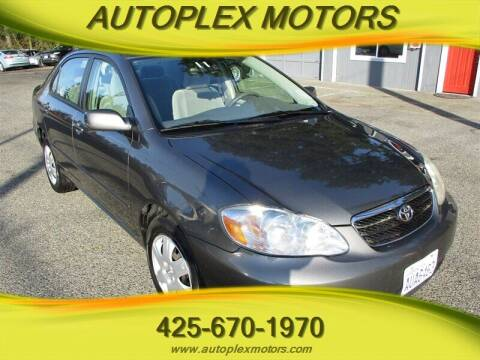 2007 Toyota Corolla for sale at Autoplex Motors in Lynnwood WA