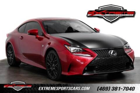 2015 Lexus RC 350 for sale at EXTREME SPORTCARS INC in Carrollton TX