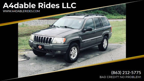 2000 Jeep Grand Cherokee for sale at A4dable Rides LLC in Haines City FL