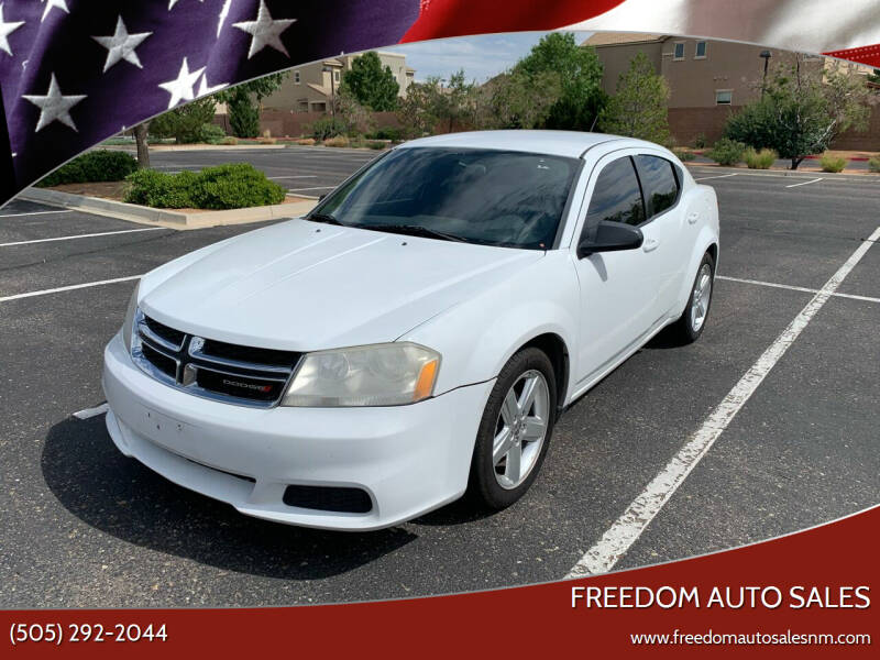 2013 Dodge Avenger for sale at Freedom Auto Sales in Albuquerque NM