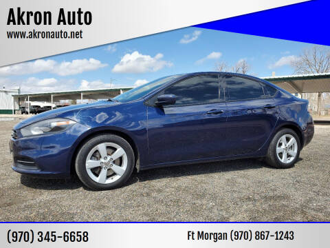 2016 Dodge Dart for sale at Akron Auto - Fort Morgan in Fort Morgan CO