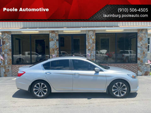 2015 Honda Accord for sale at Poole Automotive in Laurinburg NC
