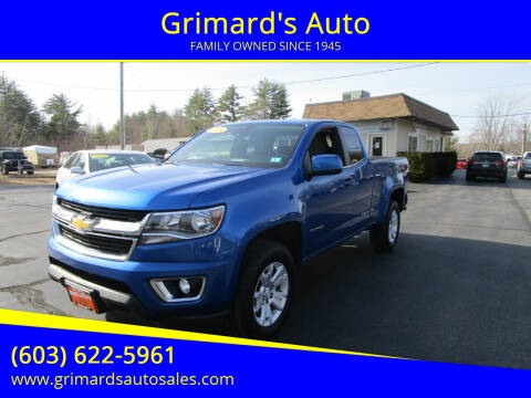 2018 Chevrolet Colorado for sale at Grimard's Auto in Hooksett, NH